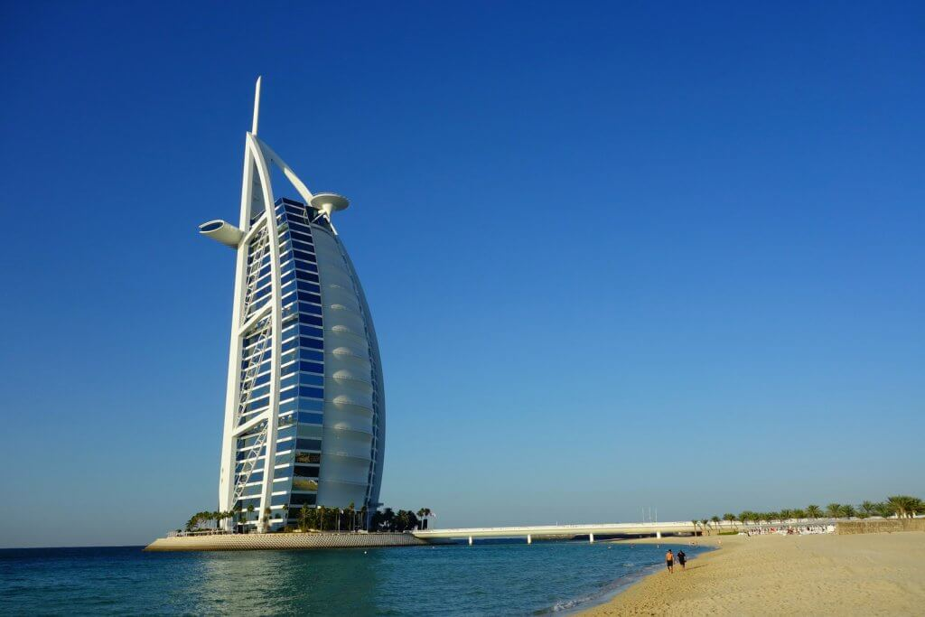 Burj Al Arab. One of the finest hotels in the world.